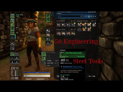 Leveling Engineering and Making Steel Tools | New World