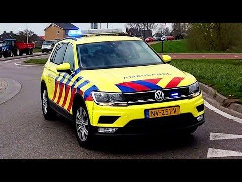 brandweer politie en ambulance met spoed is Rotterdam
