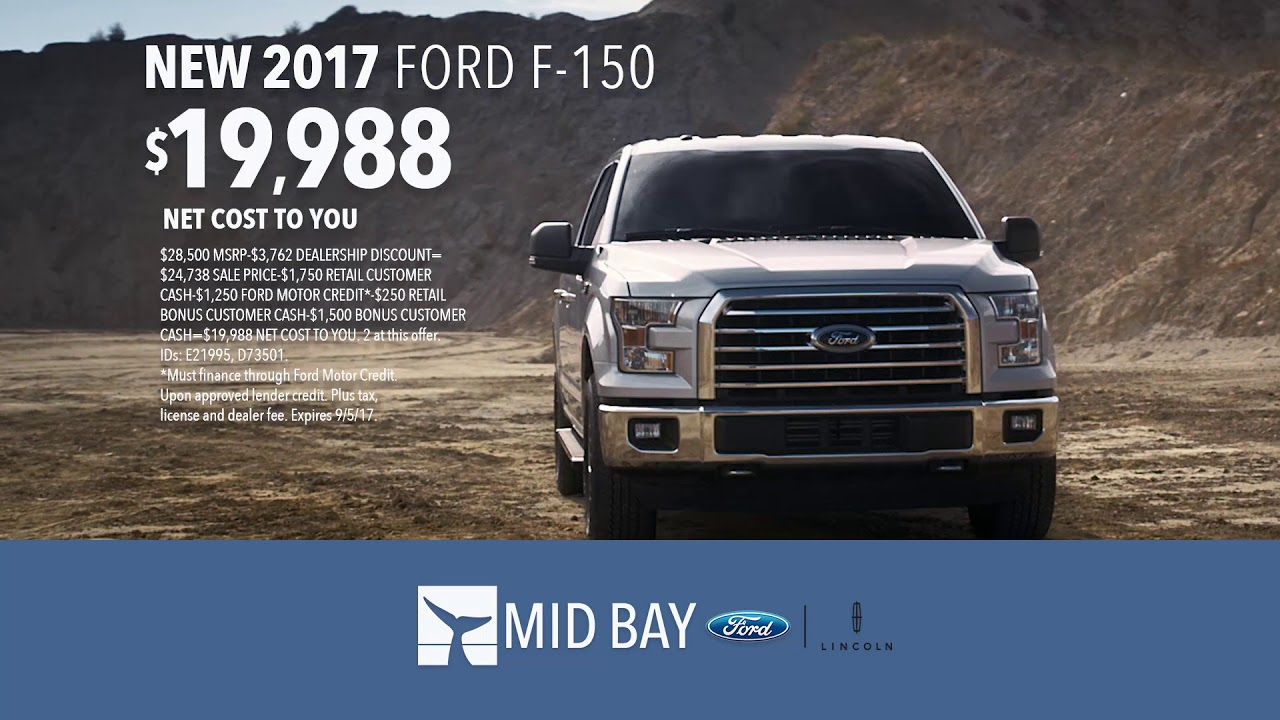 Mid Bay Ford >> Mid Bay Ford Lincoln 2017 Ford F 150 Expedition August 2017