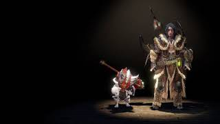 [ PS4 ] MHWorld Iceborne : AT KT Pursuit LV1 Solo Charge Blade ( MR Armor )