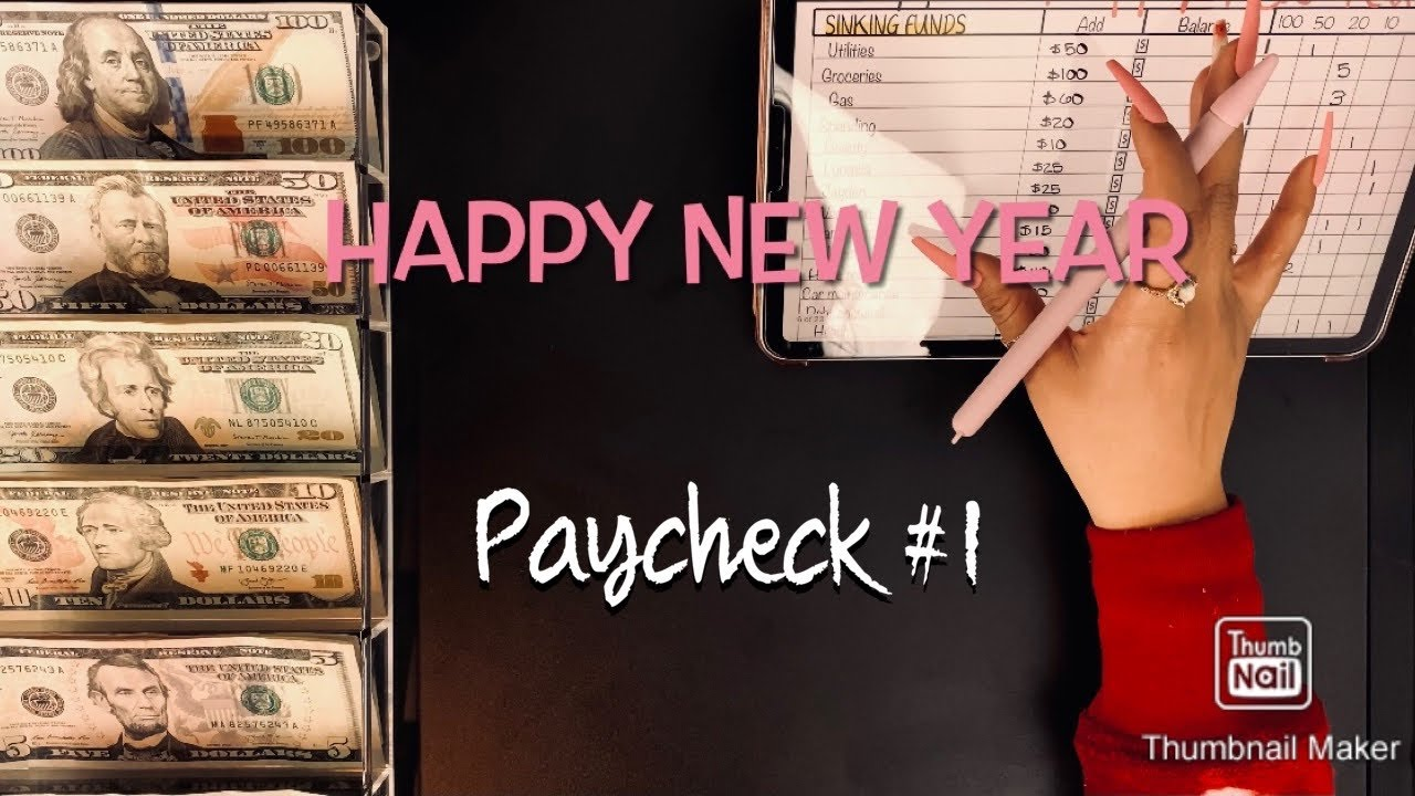 Download January 2021 | cash envelope stuffing | paycheck # 1 | budget