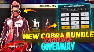 🔴[LIVE] Free Fire Dj Alok Team Code Cobra Bundle Giveaway Cobra Mp40 Giveaway- Cobra emote -Arnlive