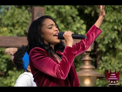 China Anne McClain  'This Christmas' Descendants Magical Holiday Celebration