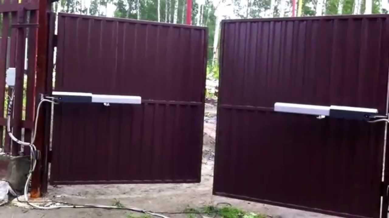 Распашные ворота came видео двигатель для открывания ворот фаас