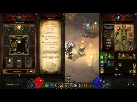 How to Convert Crafting Materials With Kanai's Cube - Diablo 3 - 2.3.0 PTR Preview