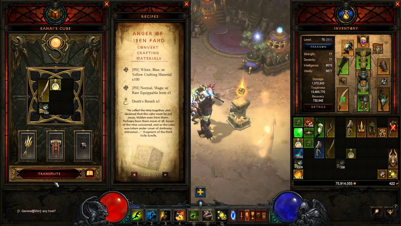 How To Convert Crafting Materials With Kanai S Cube Diablo 3 2 3 0 Ptr Preview Youtube