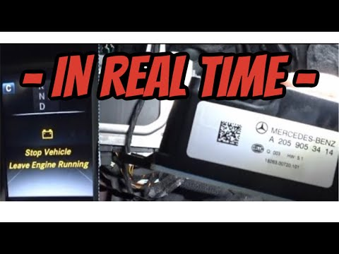 2015 Mercedez Benz C300(W205) Auxiliary Battery FIX - IN REAL TIME