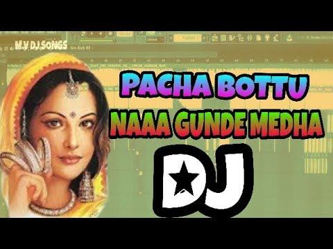 Pacha Bottu Naa Gunde Meedha Latest DJ Song Updated By  ||  DJ VIND AND CHIRU
