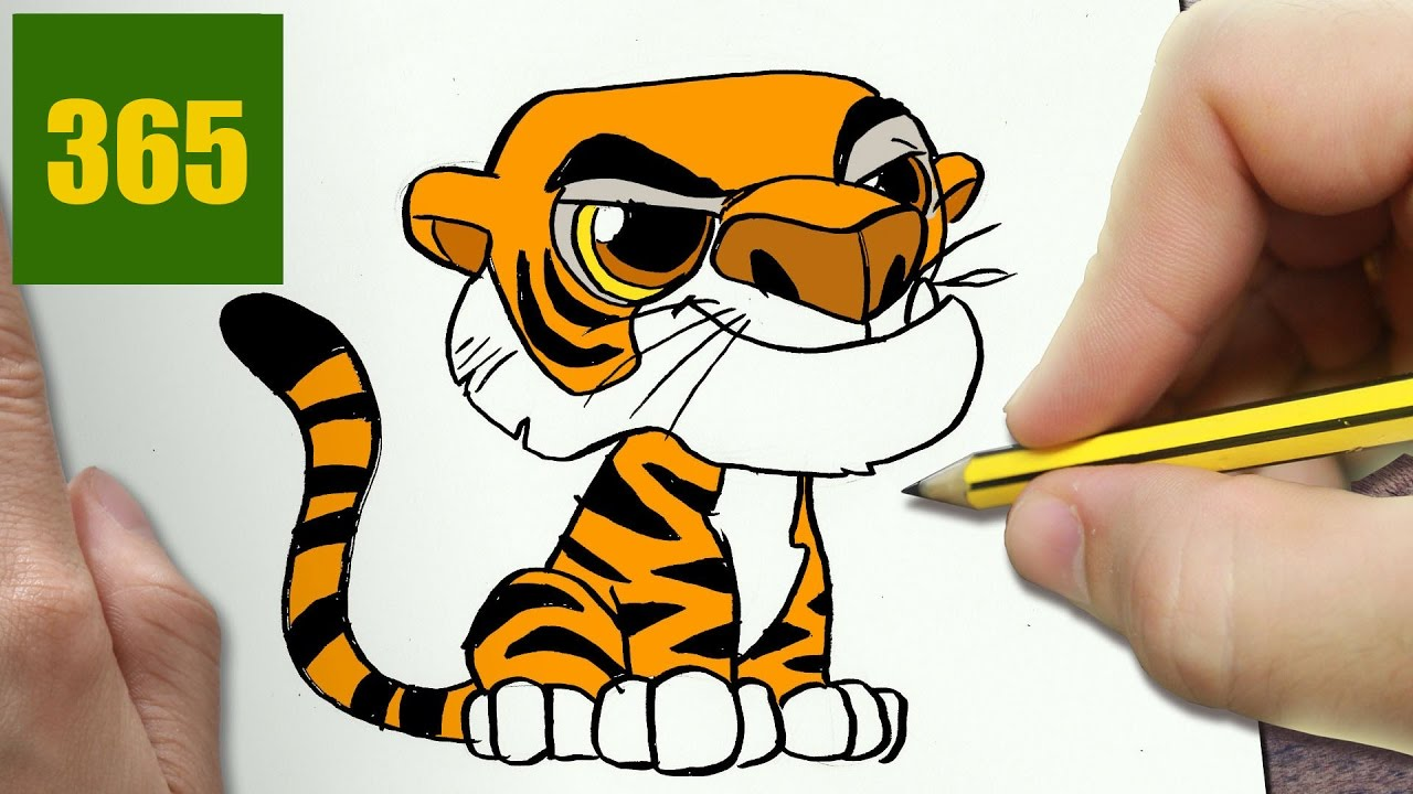 Comment Dessiner Shere Khan Kawaii Etape Par Etape Dessins Kawaii