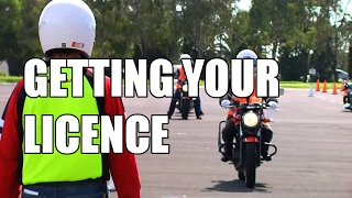 Getting your motorcycle LICENCE!
