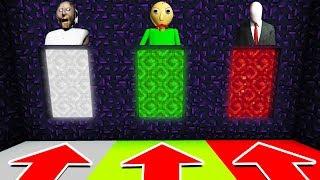 Minecraft PE : DO NOT CHOOSE THE WRONG DIMENSION! (GRANNY, BALDI'S BASICS, SLENDERMAN)