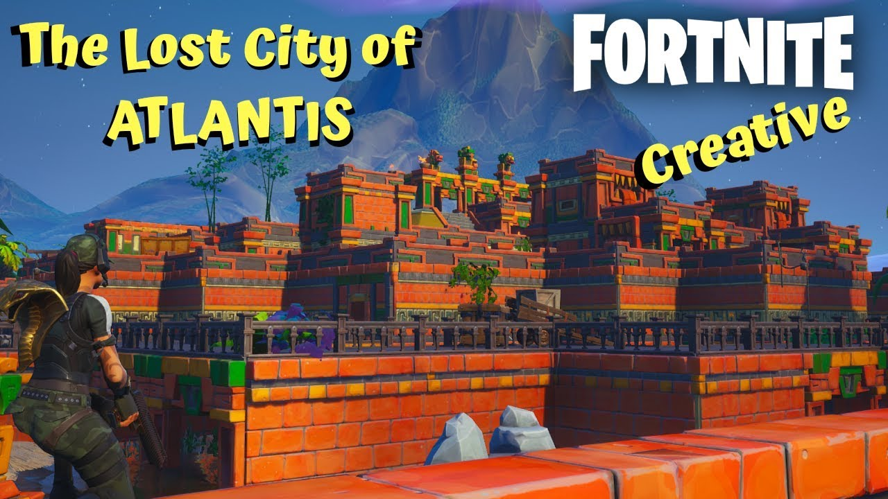The Lost City Of Atlantis In Fortnite Creative Code In Description Youtube