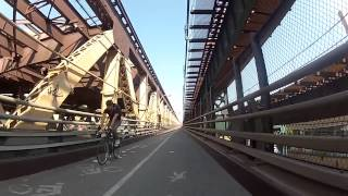 Typical New York City Morning Bicycle Commute
