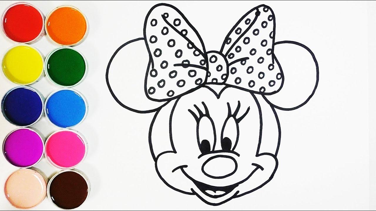 Dibujar Y Colorear A Minnie Mouse