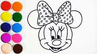 Dibujar y Colorear a Minnie Mouse - Dibujos Para Niños - Learns Colors / FunKeep