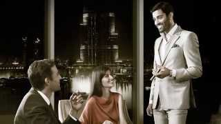 On Location at Emaar's The Address Hotel for The Cigar Lounge campaign.