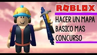 Make a basic map in roblox + CONTEST