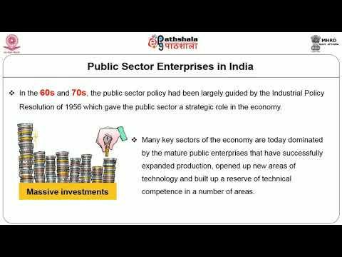 Public Enterprise in India Rationale and Role