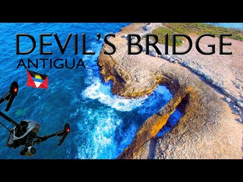 DEVIL'S BRIDGE ~ Antigua ~ Barbuda ~ Best UAV Drone Caribbean Aerials ~ WeBeYachting.com