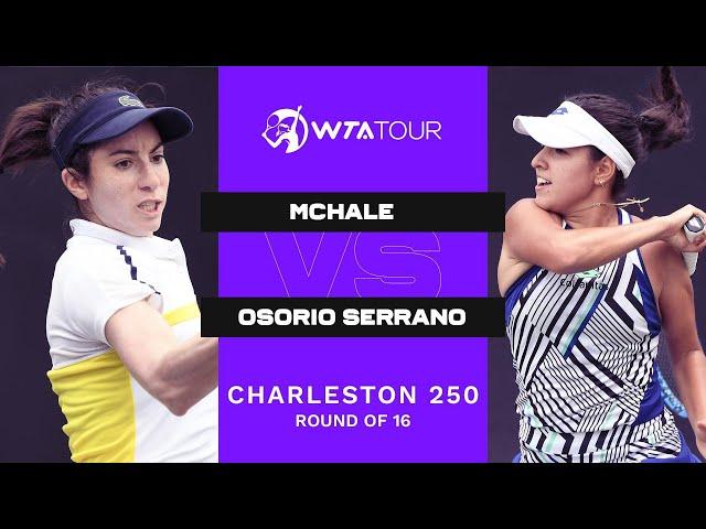 Christina McHale vs. Camila Osorio Serrano | 2021 Charleston 250 Round 2 | WTA Match Highlights