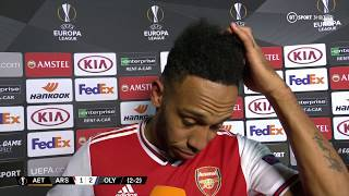 'It's very hard, very tough.' Aubameyang refelcts on the Gunners' Europa League exit
