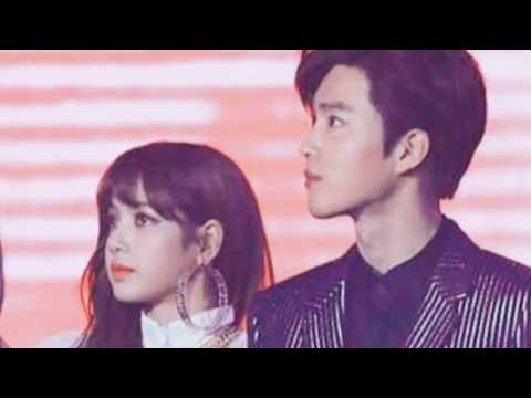 exo blackpink moments  (lisa sehun suho)