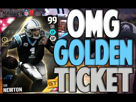 GOLDEN TICKET PULL OMFG!! CAM F*CKING NEWTON | MADDEN 16 ULTIMATE TEAM PACK OPENING