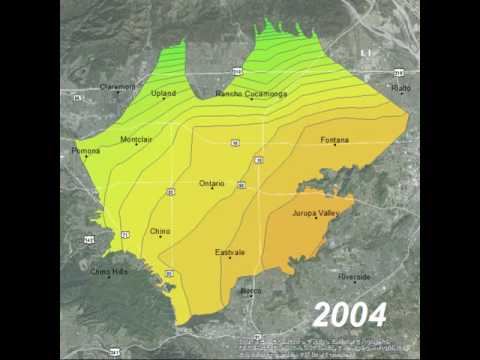 Chino Groundwater Basin Annual Precipitation 1985-2015