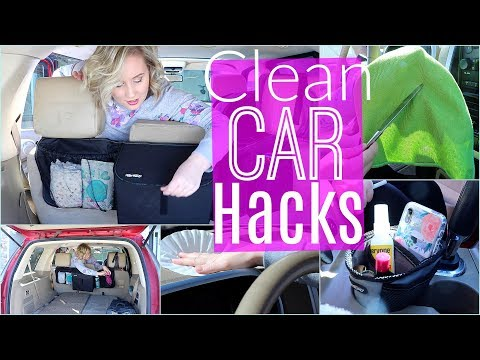 CAR CLEANING HACKS| SPRING CLEANING 2019