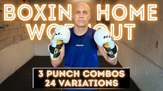3 Punch Combos Workout | 24 Variations