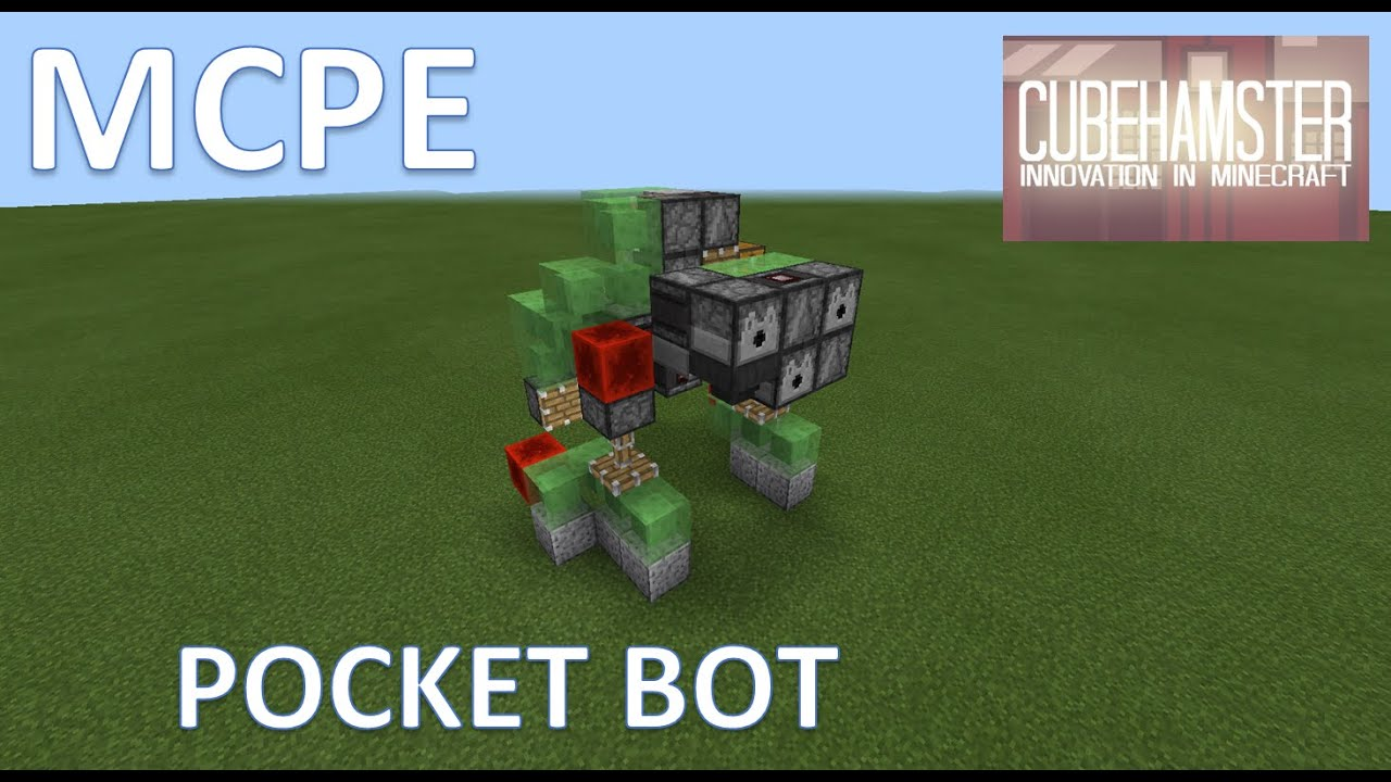 Mcpe slime block robot pocket bot mech tutorial youtube baditri Image collections