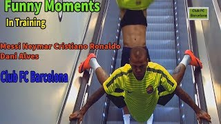 Messi Neymar C.Ronaldo D.Alves Isco Funny Moments in Training By Club FC barcelona