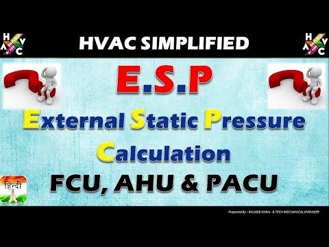 HVAC Training - External Static Pressure Calculation (Hindi Version)