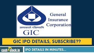 GIC IPO - General Insurance Corporation RE IPO Analysis