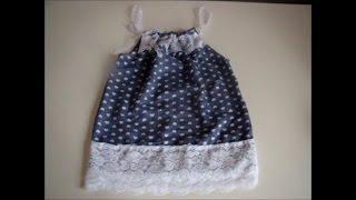 Vestido infantil super fácil n 01 com molde de 1 a 12 anos