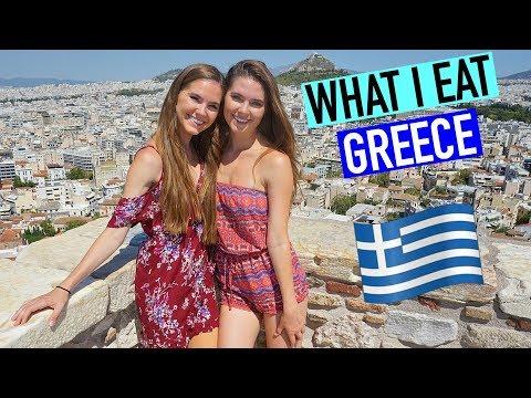 WHAT I EAT In Athens Greece VLOG -  Nina and Randa