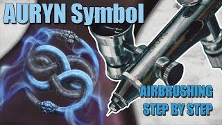 Learn to Airbrush the Auryn symbol, double headed snake.