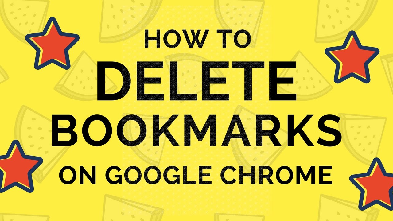 how to get rid of bookmarks on google chrome