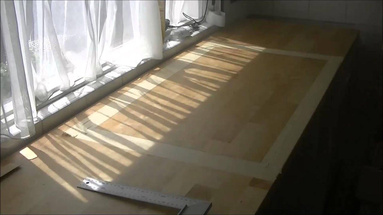 Loch Für Spülbecken Aussägen , Holz Arbeitsplatte Teil 1