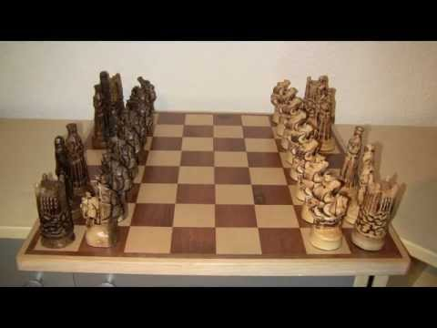 CNC carved chess figures