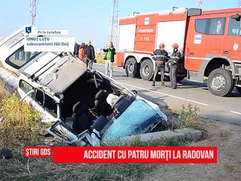 Accident cu patru morţi la Radovan