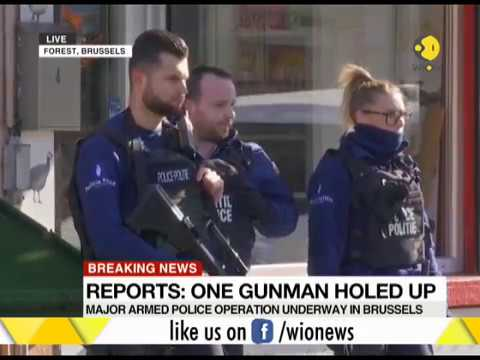 Major armed police search operation for gunman underway in Brussels