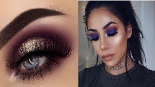 Gold Glam Cat Smokey Eyes ## Perfect Skin Makeup Tutorial 2