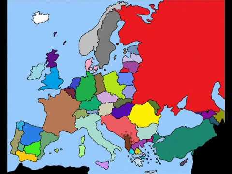 Map Of Europe Simulation 2017 2021 Youtube
