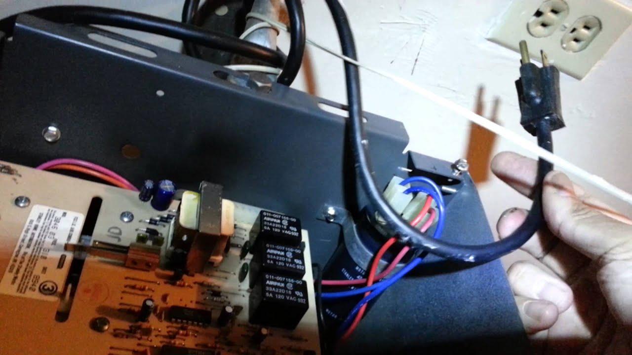 Garage door opener faulty capacitor repair part 1  YouTube