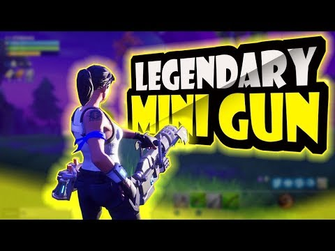 *NEW* MINI-GUN GAMEPLAY in Fortnite: Battle Royale! (LEGENDARY!!)