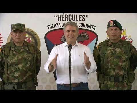 Presidente Iván Duque al término de la visita a Tumaco - 22 de diciembre de 2018