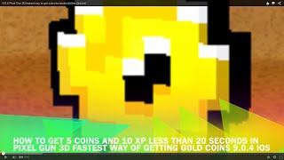 9 0 4 pixel gun 3d fastest way to get coins ios android other devices no hack or cheats