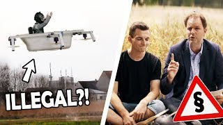 Ist unsere FLIEGENDE BADEWANNE ILLEGAL?! | RECHTSANWALT reagiert auf unsere menschliche Drohne