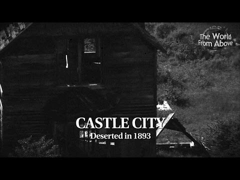 Ghost Town - Castle City, Montana from Above in High Definition (HD)